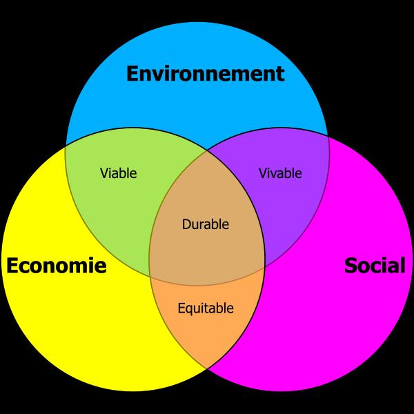Durable development vector diagram
