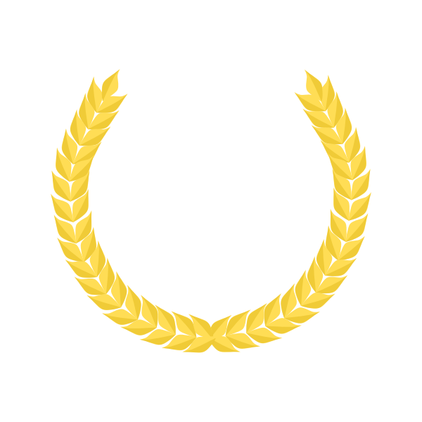 Vector drawing of laurel wreath with golden wheat