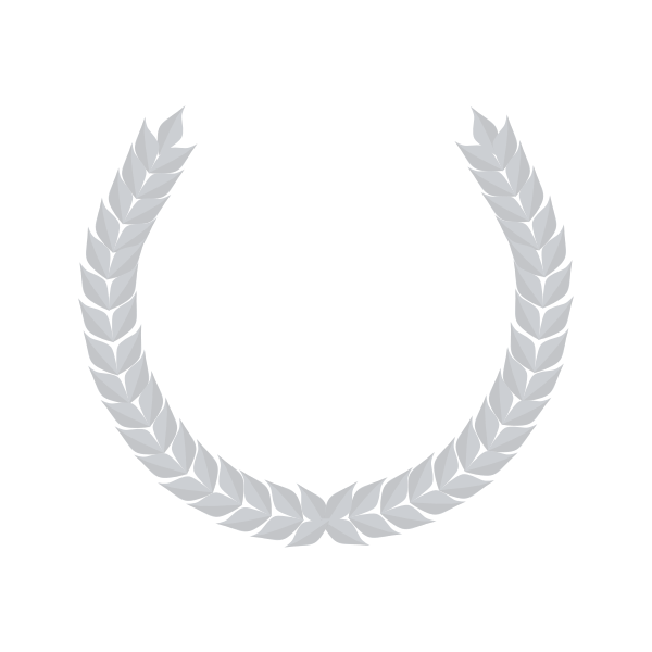 Vector clip art of laurel border made out of silver wheat