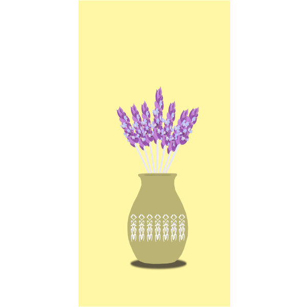 lavender in vase remix