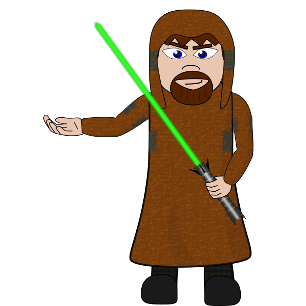 Man with laser sword