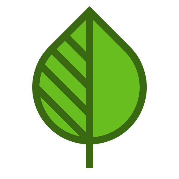 Leaf shape logo icon