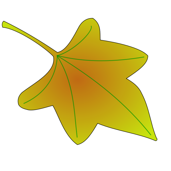 Autumn leaf vector clip art