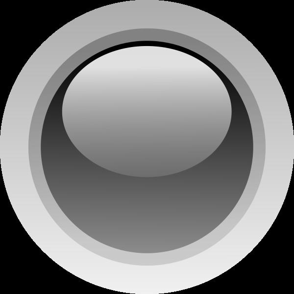 Finger size black button vector illustration