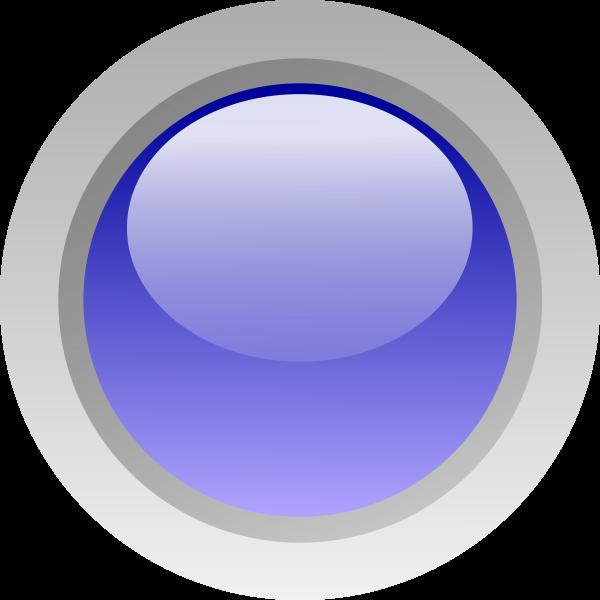 Finger size blue button vector image