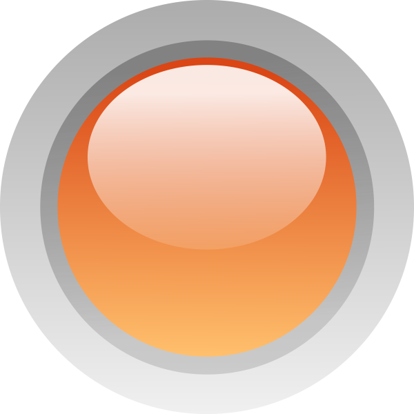 Finger size orange button vector drawing
