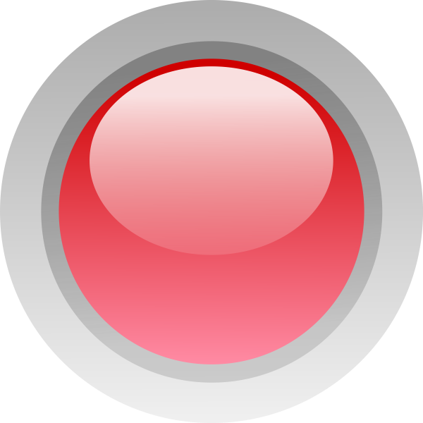 Finger size red button vector image
