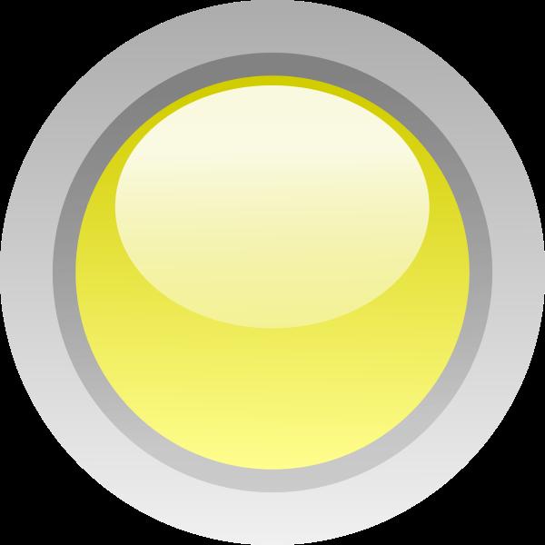 Finger size yellow button vector clip art