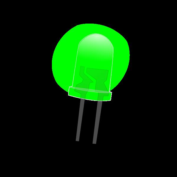 Green LED lamp on