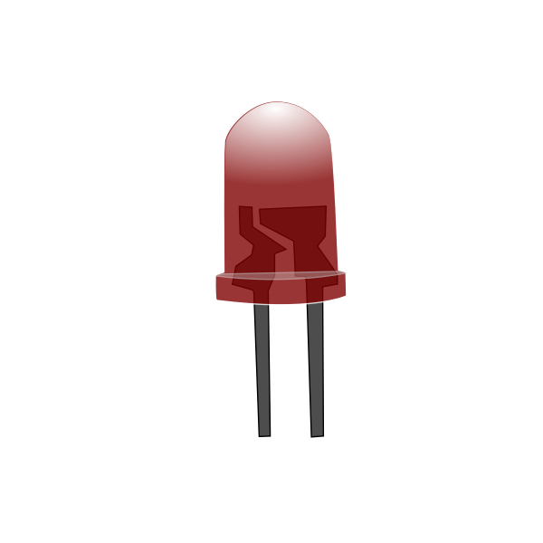 Red LED lamp off