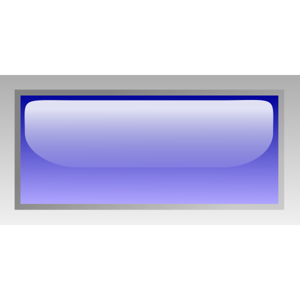 Rectangular shiny blue box vector image