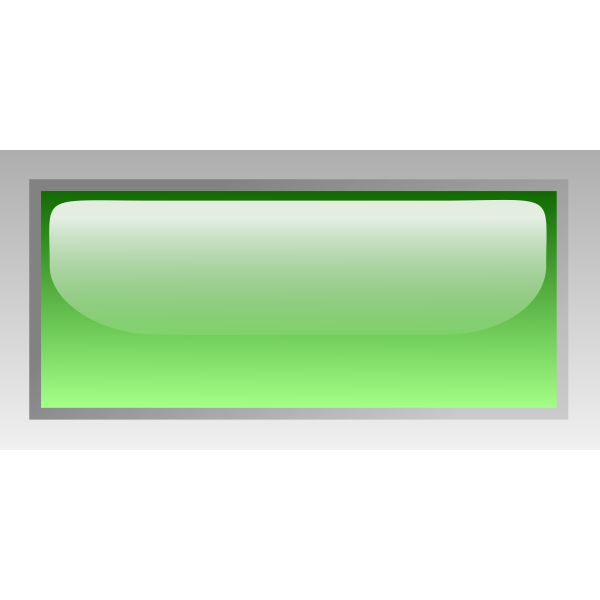 Rectangular shiny green box vector clip art