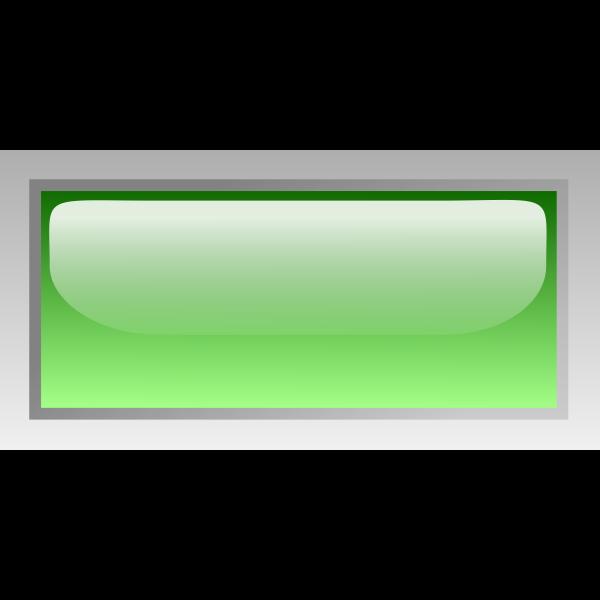Rectangular shiny green box vector clip art