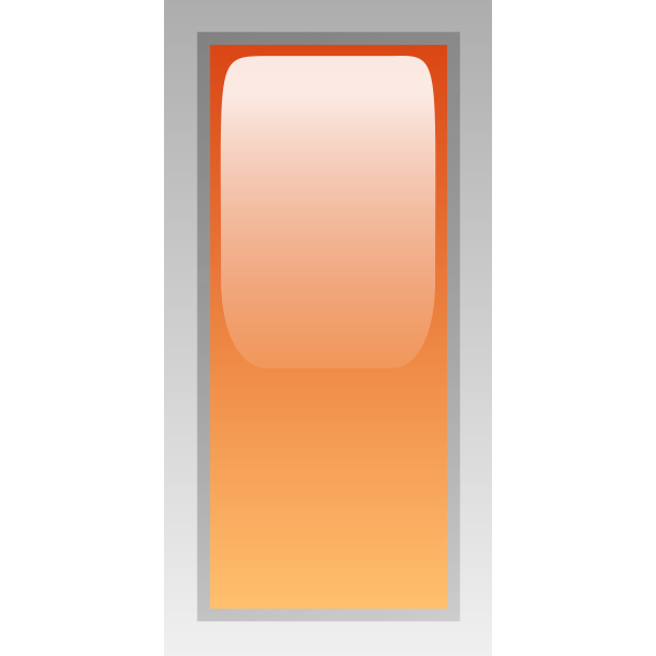 Rectangular orange box vector illustration