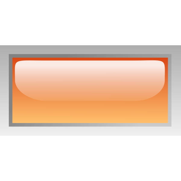 Rectangular shiny orange box vector drawing