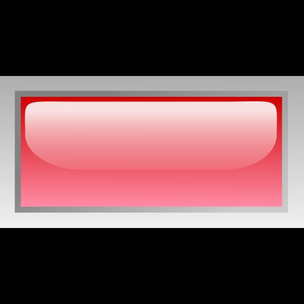 Rectangular shiny red box vector image