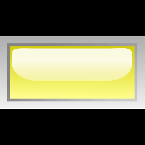 Rectangular shiny yellow box vector clip art