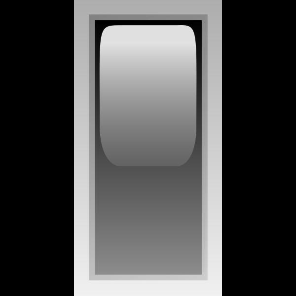 Rectangular black box vector illustration