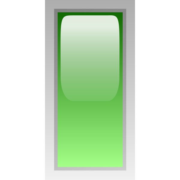 Rectangular green box vector clip art