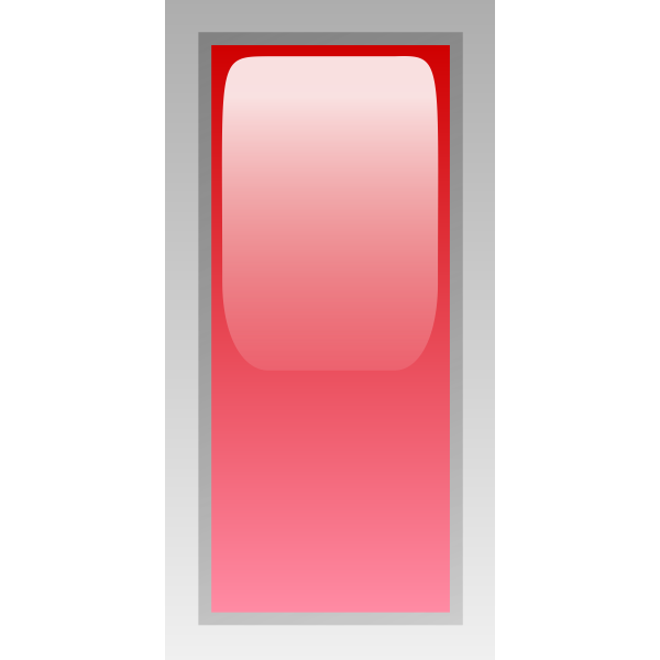 Rectangular red box vector clip art