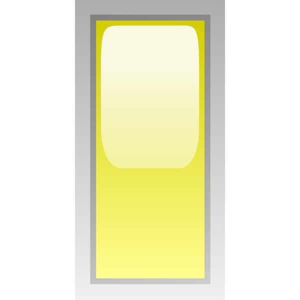 Rectangular yellow box vector illustration