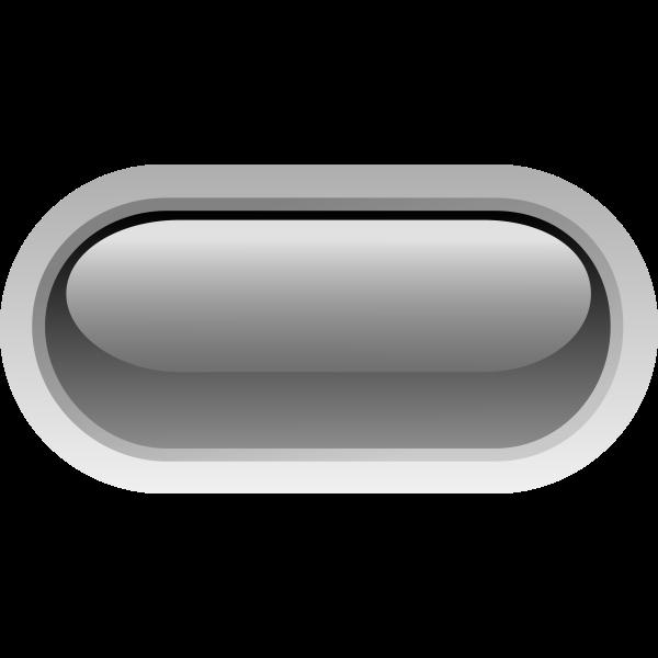 Pill shaped black button vector clip art