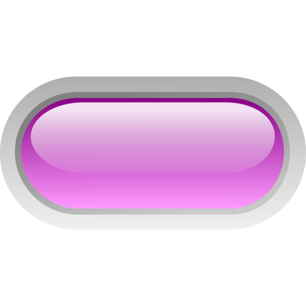 Pill shaped purple button vector clip art