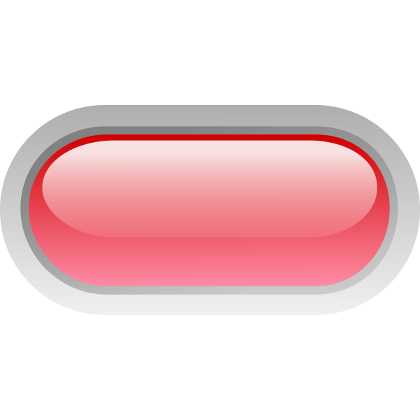 Pill shaped red button vector image