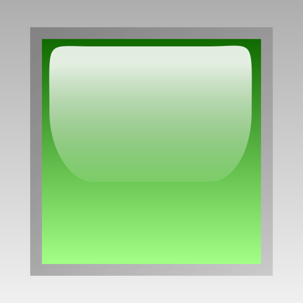 Led square green vector drawing