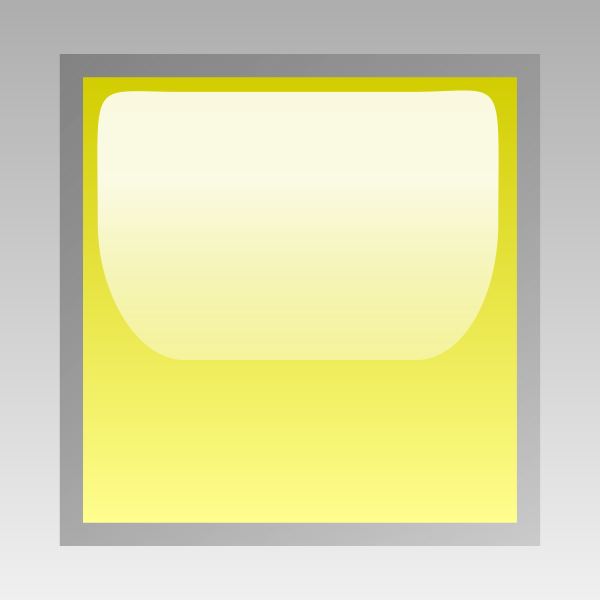 Led square yellow vector drawing