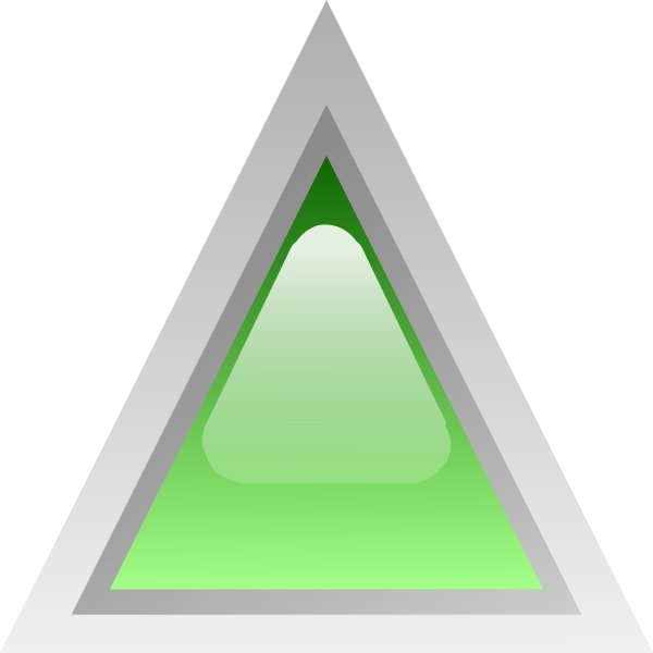 Green led triangle vector clip art