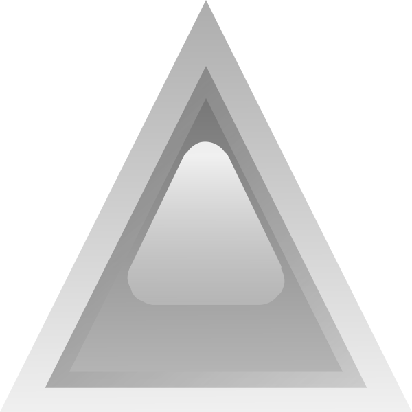 Grey led triangle vector image