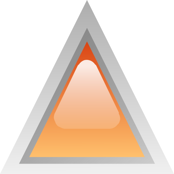 Orange led triangle vector illustration