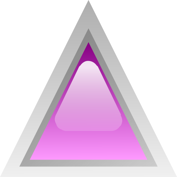 Purple led triangle vector clip art