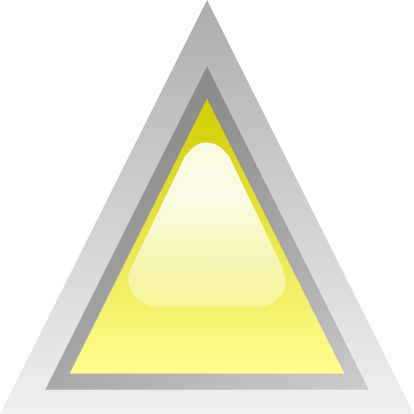 Yellow led triangle vector illustration