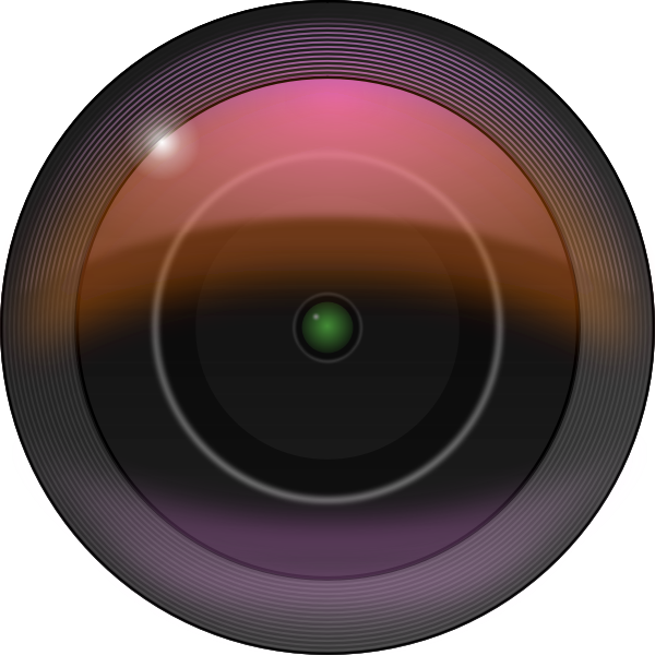 Vector clip art of camera lens with gaussian blur filters
