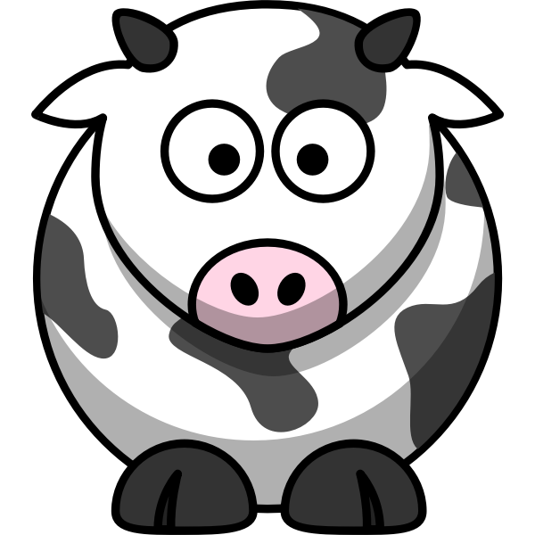 Vector image of moo cow