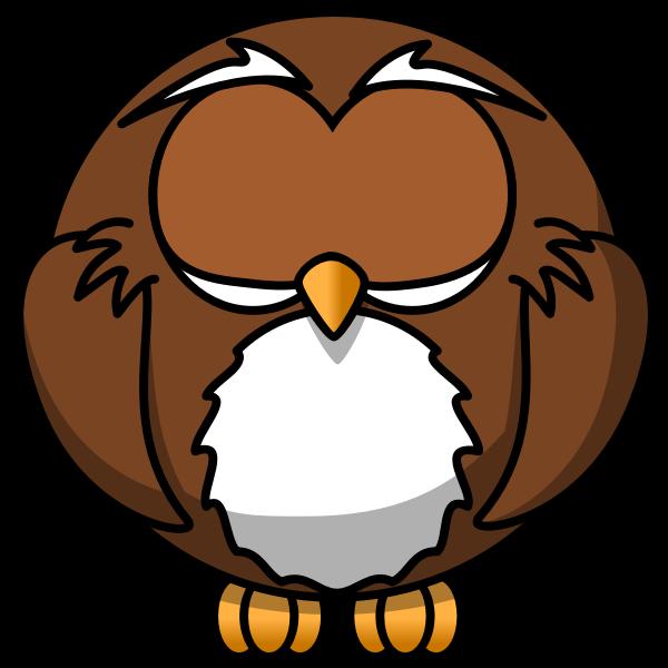 Cartoon owl sleeping