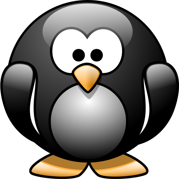 Cartoon penguin 1