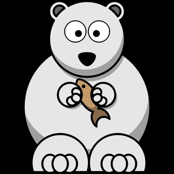 Vector image of lemmings style polar bear