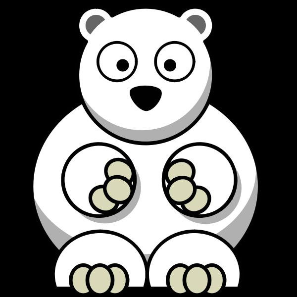 Confused polar bear vector clip art