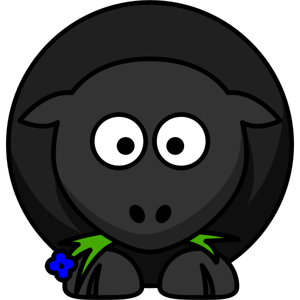 Cartoon vector illustration of cute sheep