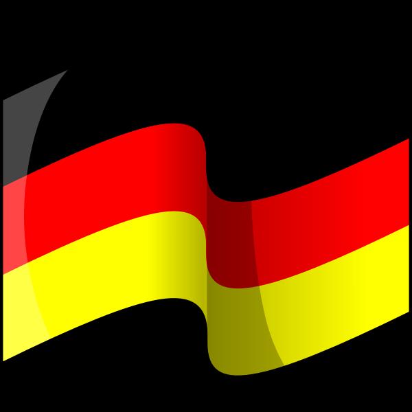 Flag of Germany (waving)