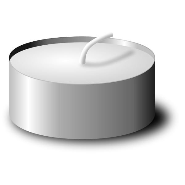 Vector image of photorealistic tea candle