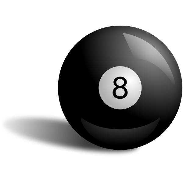 Vector illustration of pool ball 8