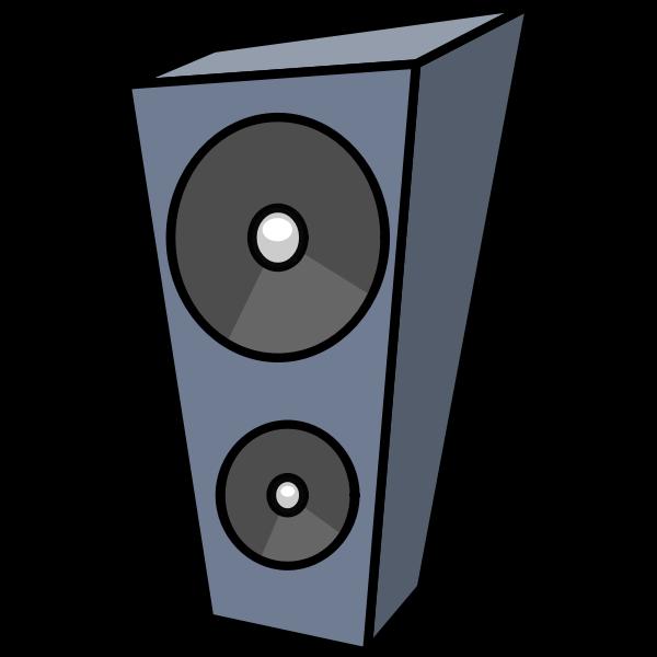 Cartoon speaker vector drawing