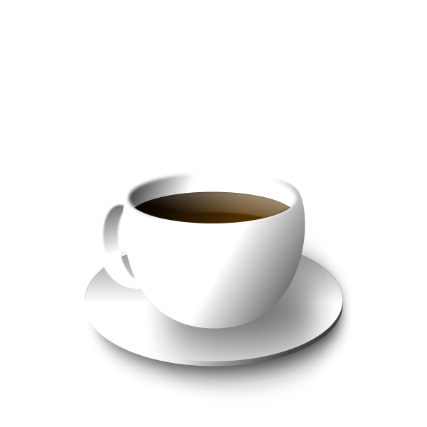 Vector illustration of coffee or tea in cup