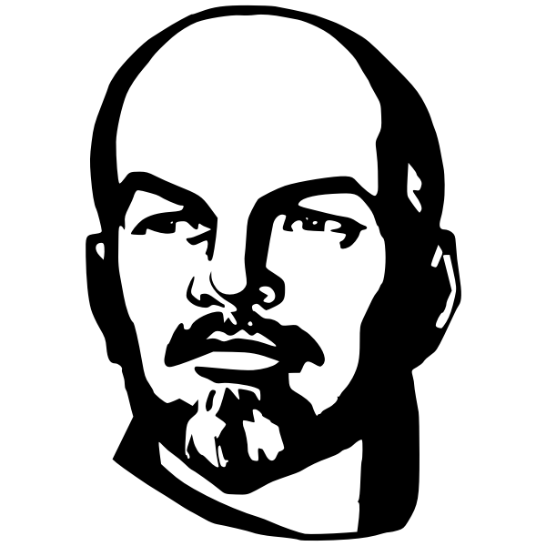 Lenin portrait vector graphics