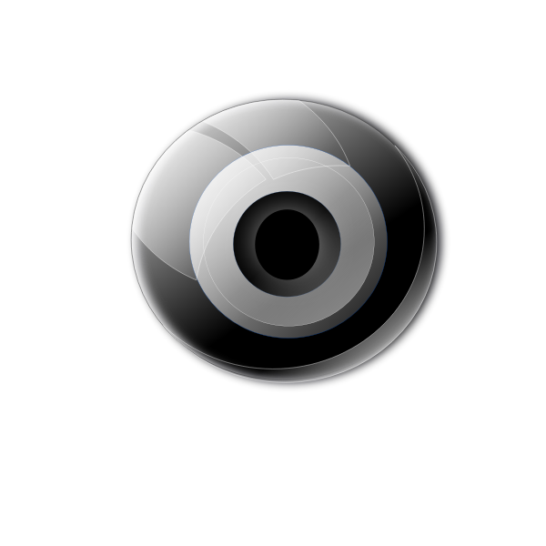 CCTV camera lens vector clip art