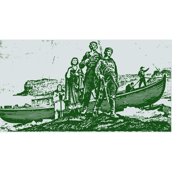 Lewis and Clark explorers vector drawing